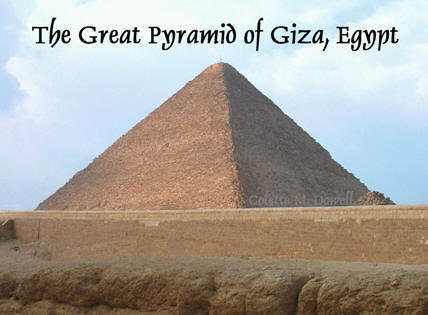 Image of Great Pyramid photograph by Colette Dowell in Giza Egypt